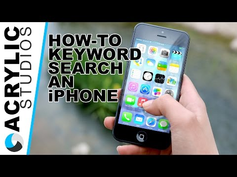 How-To Keyword Search on an iPhone
