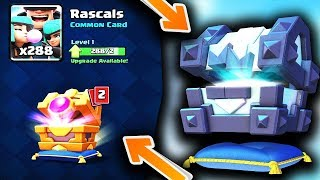 Legendary Kings Chest vs Rascals Chest Opening in Clash Royale