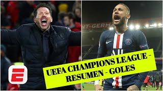 Liverpool 2-3 Atlético Madrid. PSG 2-0 Dortmund. HISTÓRICA jornada | Goles de UEFA Champions League
