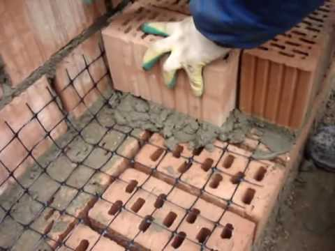 Армирование кирпичной кладки сеткой