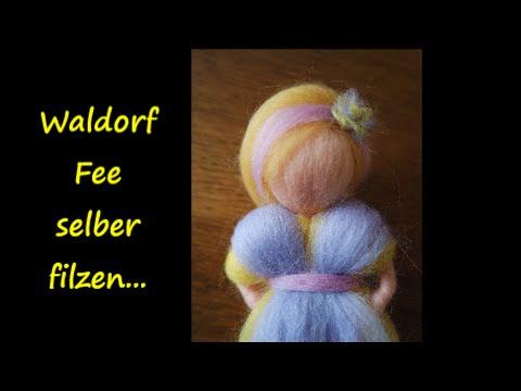 Waldorf Fee selber filzen, was man braucht und wie es geht :o) / SanjaNatur