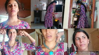 Indian mom daily morning routine tamil | Neck sets try on haul | twins veg kitchen vlogs