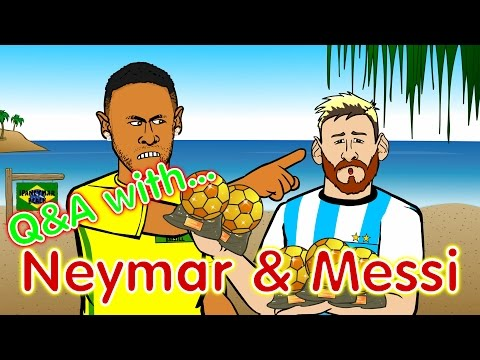 Neymar & Messi Q&A! (PARODY Brazil vs Argentina 3-0 World Cup 2018 Qualifier)