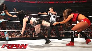 Paige & Naomi Vs. The Bella Twins: Raw, April 6, 2015
