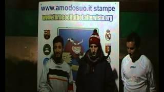 TORNEO EL FùTBOL INTERVISTA AI MIGLIORI IN CAMPO NAPOLI-REAL MADRID