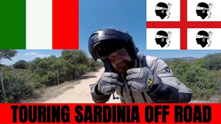 TOURING SARDINIA OFF ROAD ON MOTORCYCLE