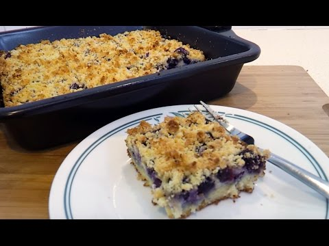 Blueberry Cheese Danish Coffee Cake - Low Carb, Gluten Free, Keto & Atkins Friendly