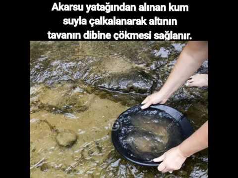 Türkiye'de Akarsulardan Altın Arama (Gold panning) Altın nerede bulunur ?