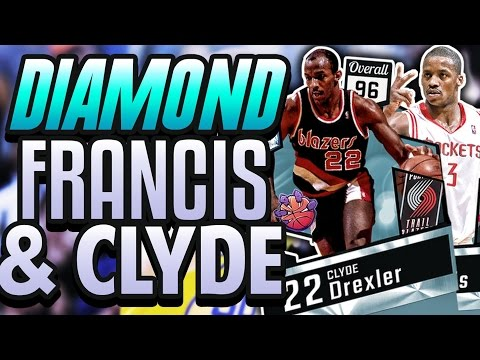 NBA 2K17 MYTEAM DIAMOND CLYDE DREXLER & STEVE FRANCIS GAMEPLAY! THEIR DUNKING IS GLITCHY!