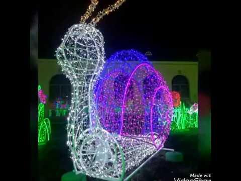 Królewski Ogród światła Wilanów 2017 2018 świąteczna Iluminacja