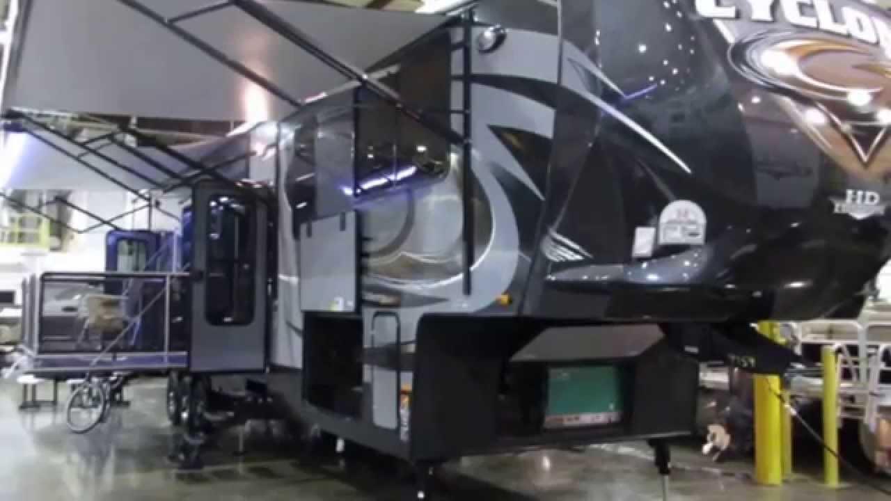 2015 Heartland Cyclone 4200 Toyhauler Fifth Wheel Youtube