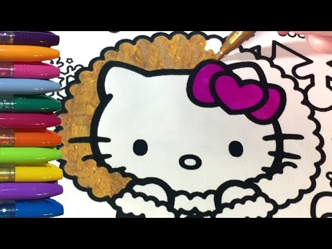 Thumbnail: Hello Kitty Coloring Pages Glitter Winter Wonderland!