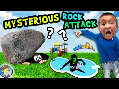 MYSTERIOUS ROCK in BACKYARD FUNnel Family Vlog