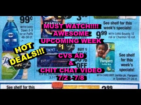 MUST WATCH....CVS AD & CHIT CHAT VIDEO 7/2-7/8...HOT WEEK!
