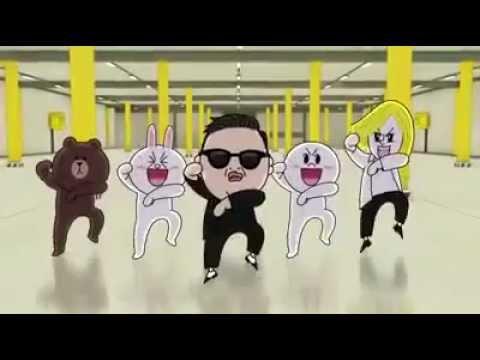 Line Gangnam Style หมีไลน์เต้นกังนัมสไลน์