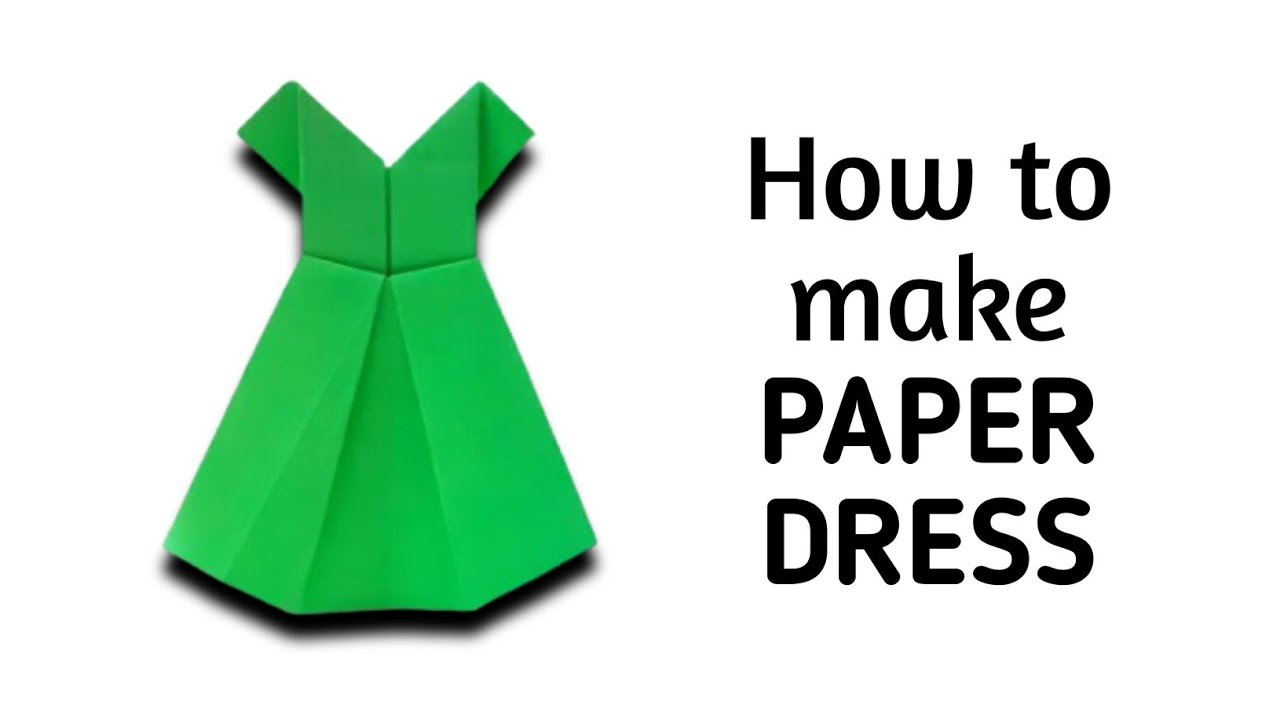 Delightful Paper Craft Ideas For Kids Videos Part - 4: How To Make An Origami Paper Dress - 1 | Origami / Paper Folding Craft,  Videos And Tutorials. - YouTube