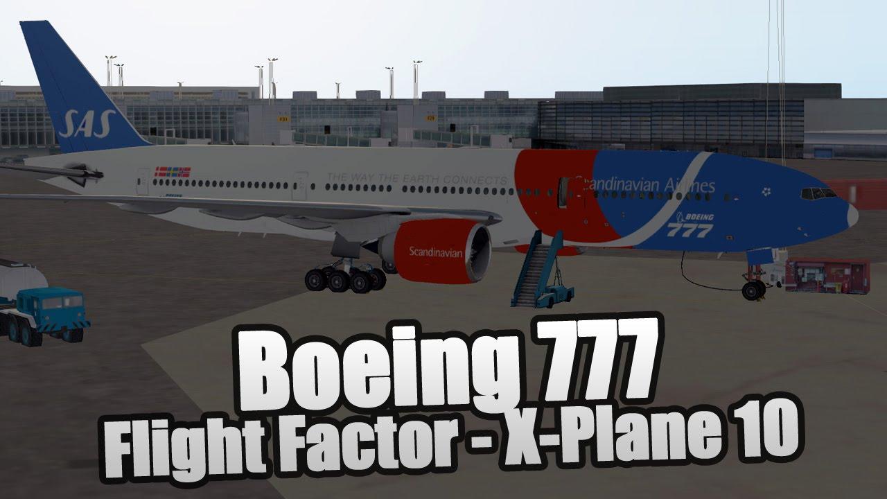 Boeing 777 Worldliner - ESSA Stockholm to EKCH Copenhagen - X-Plane 10