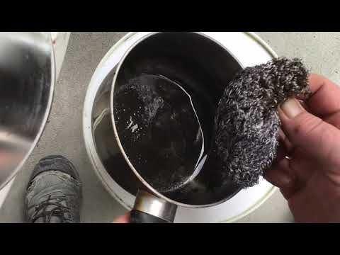 How to clean a burnt pan test