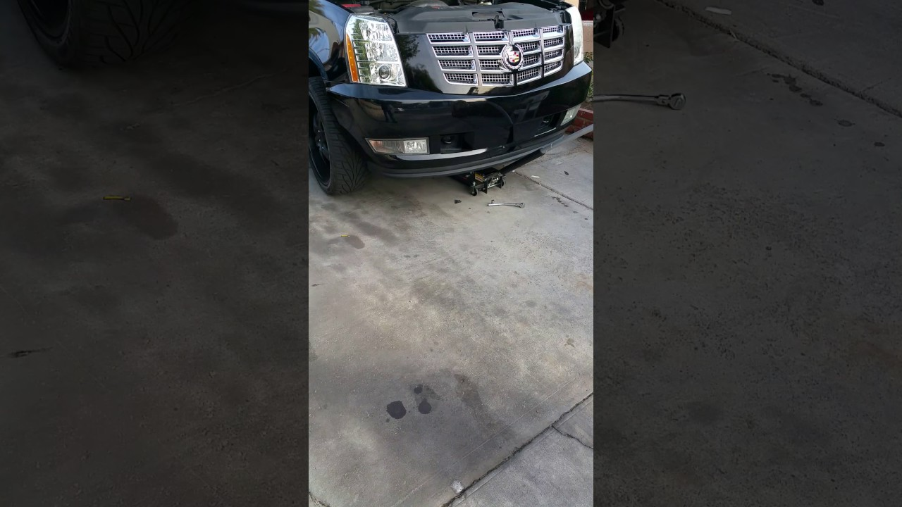 Replacing Belt Tensioner On Escalade 2007 And Up Part 1 Youtube