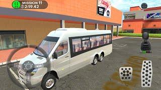 Direksiyonlu Minibüs Şoförü Oyunu // Çocuklar için Araba oyunları