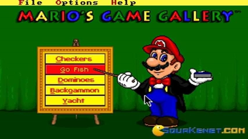 mario s game gallery gameplay pc game 1995 youtube