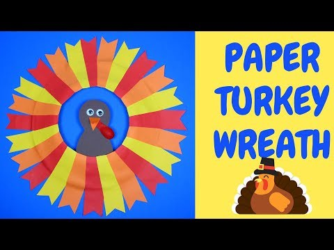 How to Make a Paper Turkey Wreath | Thanksgiving Paper Craft