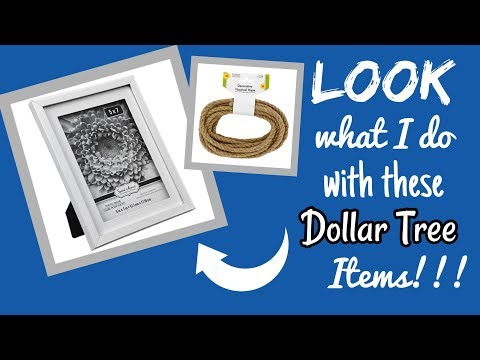 LOOK What I Do With These DOLLAR TREE ITEMS!!!!! Pottery Barn DUPE!!!