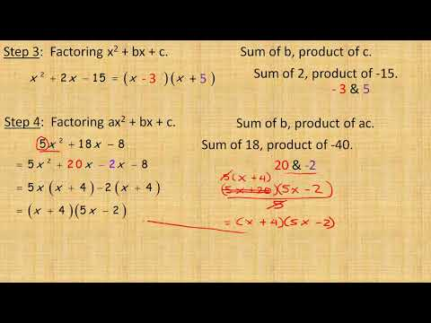 Factoring Strategies