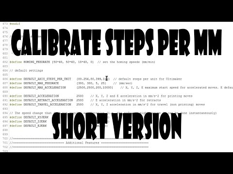 How To Calibrate 3D Printer Steps Per MM (Short Version) - YouTube