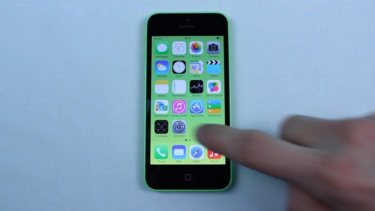 How To Take Screenshot Iphone 5c Youtube