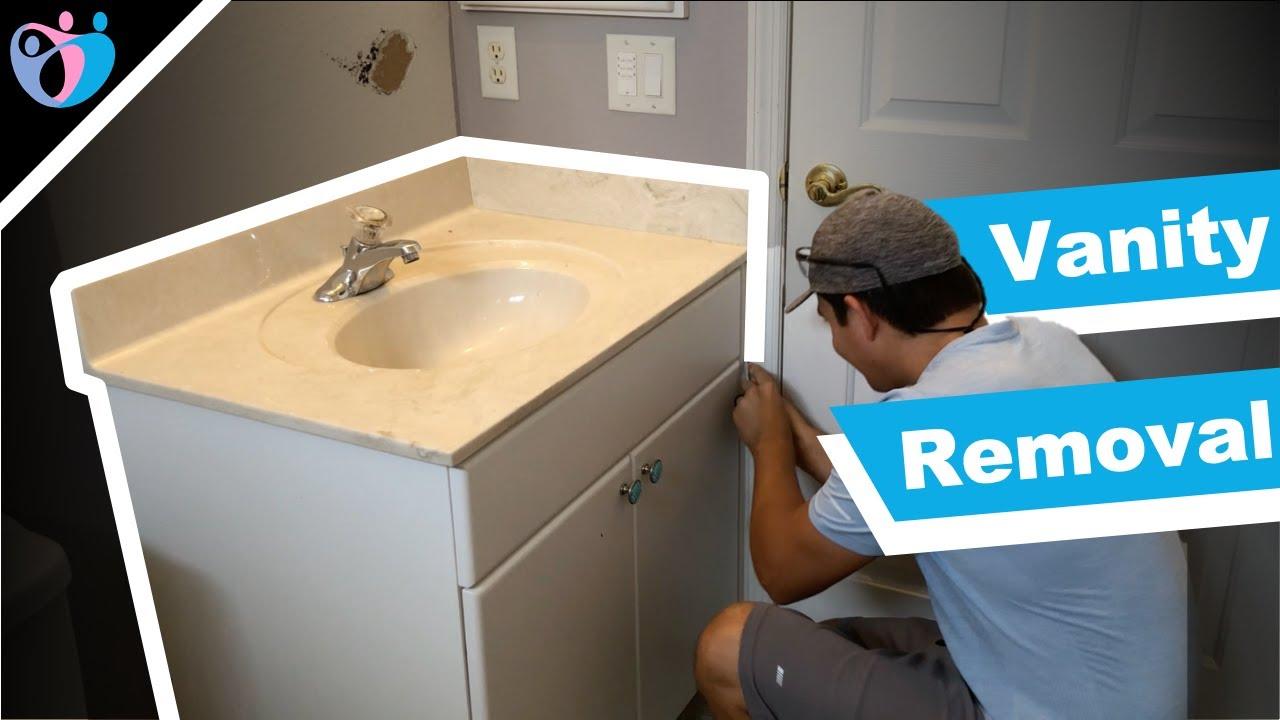 how to remove a bathroom vanity bathroom remodel