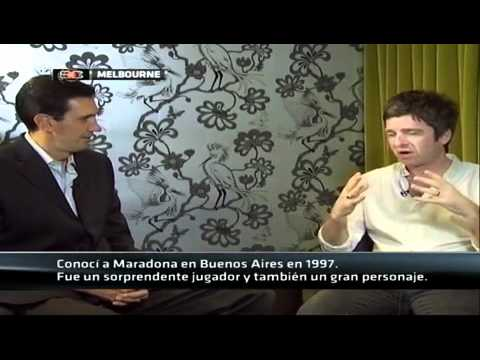 Noel Gallagher Talking About Maradona, Messi and Man City (ESPN Latin America 01.02.2012)