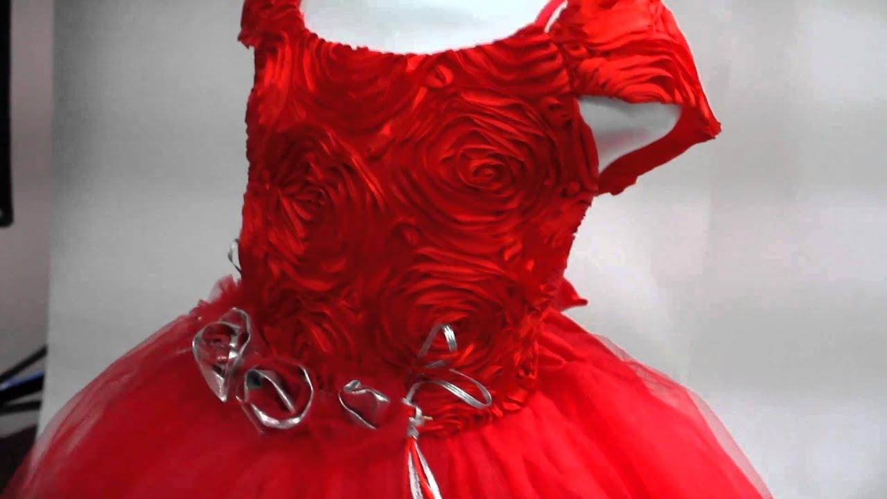 Vestido De Niña Rojo 10 004 El Sueño De Las Niñas