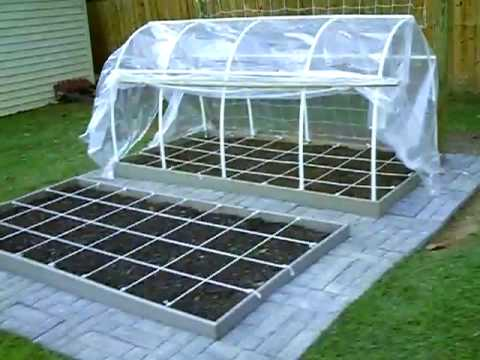 My square foot garden youtube for Materials to make a greenhouse