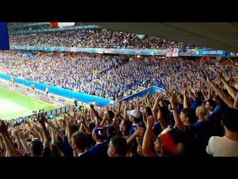 Как болеют исландские болельщики видео