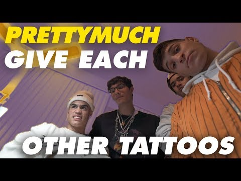 PRETTYMUCH GIVE EACH OTHER TATTOOS!