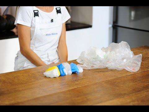Come piegare i sacchetti di plastica  Fai da te - YouTube