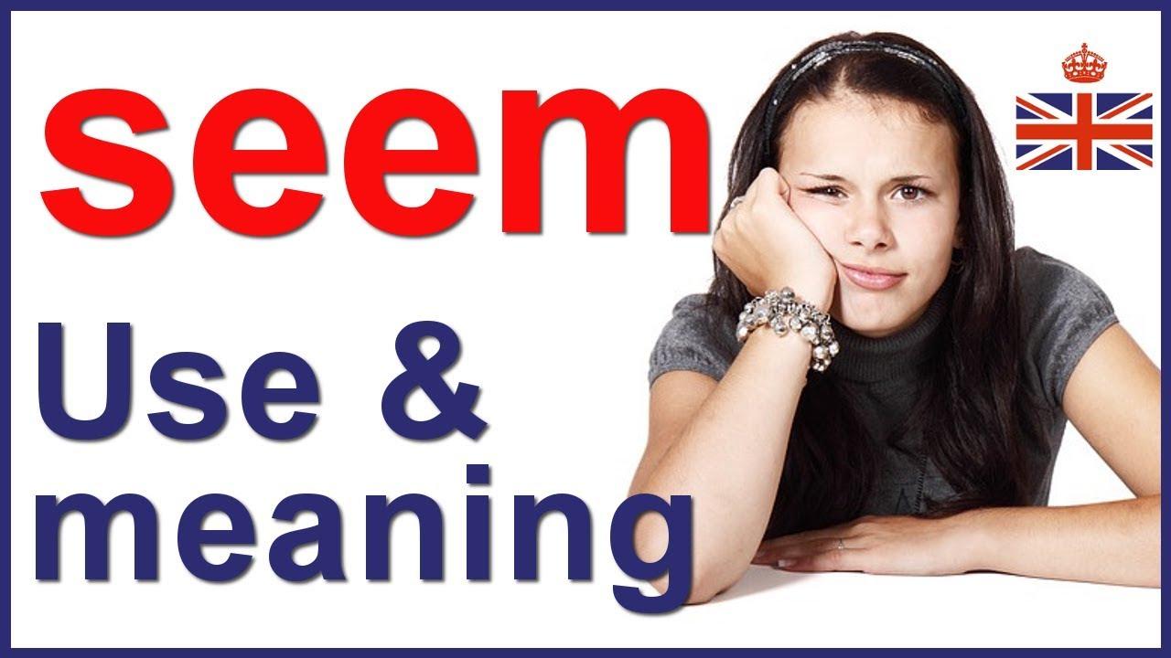 Download Linking verb SEEM - English lesson