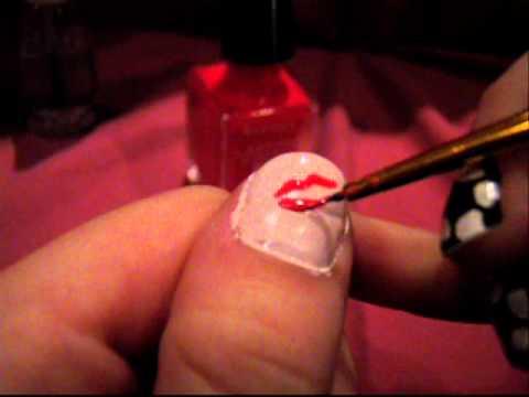 Pretty pink lips nail design youtube pretty pink lips nail design prinsesfo Choice Image