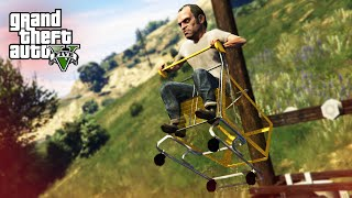 FUNNY SHOPPING CART STUNTS!  - (GTA 5 Mods Funny Moments)