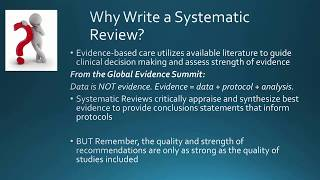 Finalizing Your Systematic Review for Submission for Publication - Laurie Theeke – Nov 2017