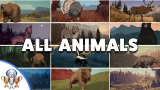 Far Cry 5 - All Animal & Fish Hunting Challenge Locations - Been There, Done That Trophy