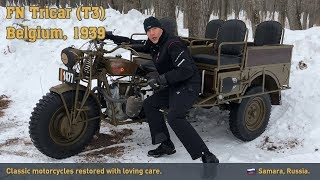 FN Tricar winter test drive with the museum «Motorworld by V. Sheyanov»