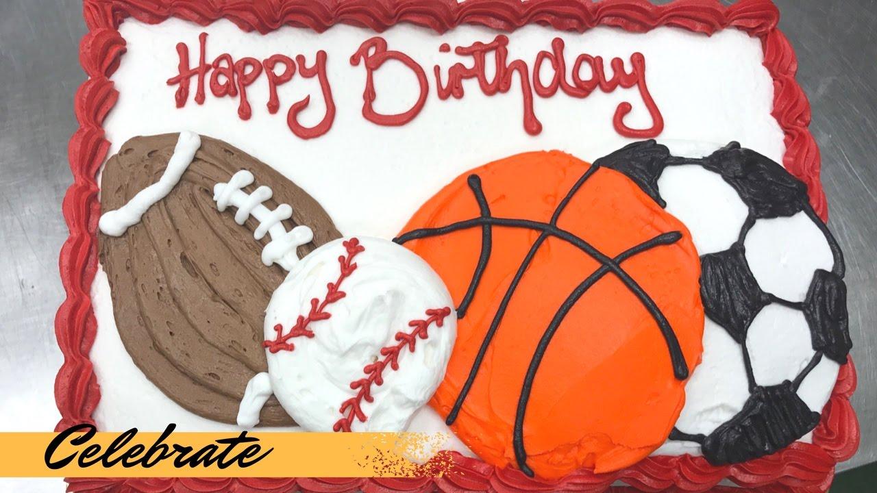 Sports Birthday Cake Youtube