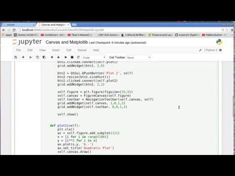 PyQt4 (Python GUI) 4: Plotting on GUIs - YouTube