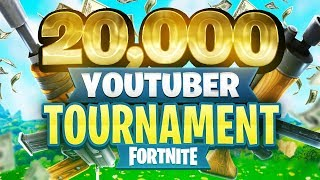 $20,000 YouTuber/Streamer FORTNITE TOURNAMENT (Week 10)