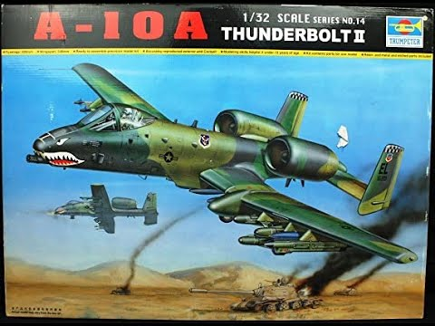 Trumpeter A 10 Thunderbolt Ii 1 32 Scale Model In Box Review Youtube