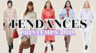 TENDANCES MODE PRINTEMPS 2020