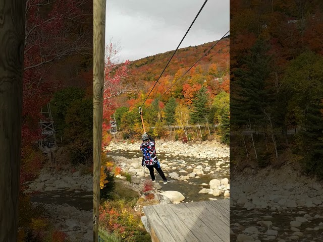 Jack on the Loon Zipline - Troop 279