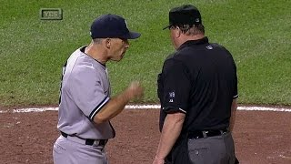 NYY@BAL: Girardi ejected after interference call